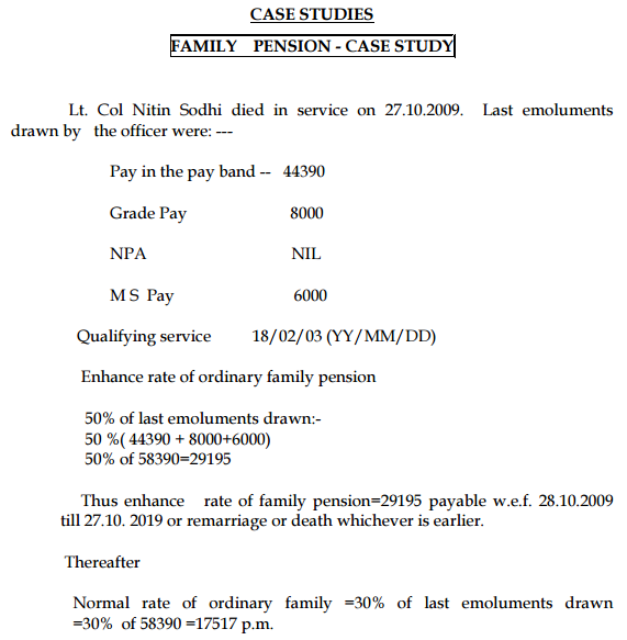 Pension calculation example.